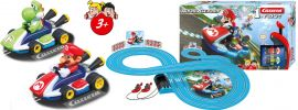 Carrera 63014 FIRST Nintendo Mario Kart | Autorennbahn Grundset | ab 3 Jahren online kaufen