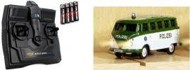CARSON 500504121 VW T1 Bus Kastenwagen Polizei 2.4GHz | RC Auto 1:87 Spur H0 online kaufen