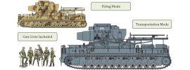 Cyber Hobby 9157 Mörser Karl 60cm   Gerät 040   Militär Bausatz 1:35 online kaufen