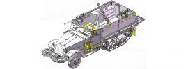 DRAGON 3597 IDF M3 Halftrack Mortar Carrier | Militär Bausatz 1:35 online kaufen