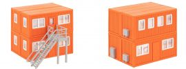 FALLER 130135 Baucontainer orange 4 Stück Bausatz 1:87 online kaufen