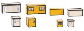 FALLER 130136 Baucontainer gelb-schwarz und schwarz-grau 4 Stück Bausatz 1:87 online kaufen