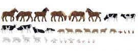 FALLER 150938 Tiere auf dem Bauernhof | 36 Stück Miniaturfiguren | Spur H0 online kaufen