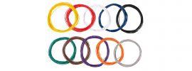 FALLER 163780 Litzensortiment 0,04 mm²  je 10m und 10 Farben Anlagenbau alle Spurweiten online kaufen