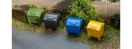 FALLER 180343 Mülltonnen-Set | 6 Stück | Zubehör Spur H0 online kaufen