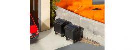 FALLER 180933 2 schwarze Mülltonnen | Spur H0 online kaufen