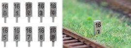 FALLER 180952 Hektometersteine 10 Stück Fertigmodelle Spur H0 online kaufen