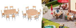 FALLER 180957 Tische 2 Stück und 12 Stühle Bausatz 1:87 online kaufen