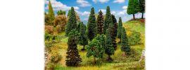 FALLER 181529 Mischwaldbäume sortiert 15 Stück 70mm bis 90mm Spur H0 und N online kaufen