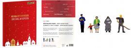 FALLER 190025 Figuren Adventskalender 2020 | 24 Stück | Spur H0 online kaufen