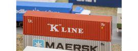 FALLER 272820 40ft Hi-Cube Container K-LINE Fertigmodell 1:160 online kaufen