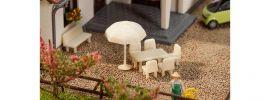 FALLER 272905 Tische Stühle Sonnenschirme Bausatz 1:160 online kaufen