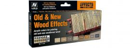 VALLEJO 771187 Farbset Alt-Neu Effekt Holz | 8x 17 ml online kaufen