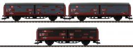 FLEISCHMANN 533709 Set Schiebewandwagen Bauart Hbis299 DB AG | 3-tlg. | DC | Spur H0 online kaufen