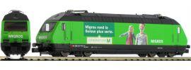 FLEISCHMANN 731313 E-Lok Re 460 Migros SBB   DC analog   Spur N online kaufen