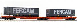 FLEISCHMANN 825010 Doppeltaschen-Gelenkwagen T2000 FERCAM Wascosa | Spur N online kaufen
