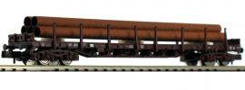 FLEISCHMANN 826808 Rungenwagen Rs mit Rohrbeladung DSB | Spur N online kaufen