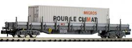 FLEISCHMANN 828823 Rungenwagen Res mit MIGROS-Container SBB | Spur N online kaufen