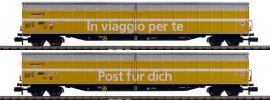 FLEISCHMANN 838312 2 tlg. Set Großraum-Schiebewandwagen Post SBB | Spur N online kaufen