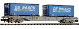 FLEISCHMANN 845373 Containertragwagen Sgns DE WAARD AAE   Spur N online kaufen