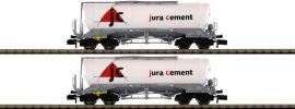 FLEISCHMANN 848902 Set Silowagen Bauart Uacns 932 Jura Cement/Wascosa   2-tlg.   Spur N online kaufen