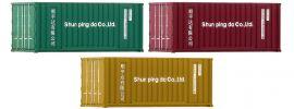 FLEISCHMANN 910220 20ft-Container | 3 Stück | Spur N online kaufen