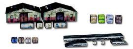 Heki 10600 Lagerhallenset | Kartonbausatz für Hintergrund | Spur H0 online kaufen