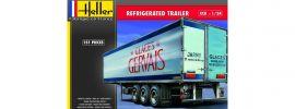 Heller 80776 Kühlanhänger Glaces Gervais | LKW Anhänger Bausatz 1:24 online kaufen