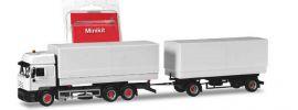 herpa 013505 MiniKit Steyr F2000 Wechselpritschenhängerzug weiss Bausatz LKW-Modell 1:87 online kaufen