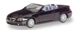 herpa 023245-002 BMW 6er Cabrio E64 schwarz Automodell 1:87 online kaufen