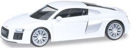ausverkauft | herpa 028486 Audi R8 V10 ibisweiß | Automodell 1:87 online kaufen