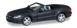 herpa 038461 MB SL-Klasse, mattschwarz mit Chromfelgen Modellauto 1:87 online kaufen