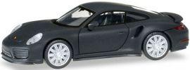 herpa 038713 Porsche 911 Turbo mattschwarz | Automodell 1:87 online kaufen