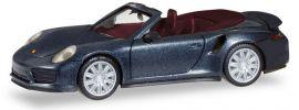 herpa 038928 Porsche 911 Turbo Cabrio tiefschwarzmetallic Automodell 1:87 online kaufen