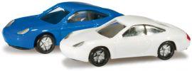 herpa 065122-002 N-PKW Set Porsche 911, blau/weiß Modellautos 1:160 online kaufen