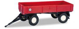 herpa 065955-002 Landwirtschaftlicher Anhänger, dunkelrot Agrarmodell 1:160 online kaufen