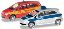 herpa 066549 MB B-Klasse Polizei FW 2x | Blaulichtmodell 1:160 online kaufen