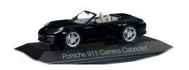 herpa 071031 Porsche 911 Carrera Cabrio II tiefschwarzmetallic Automodell 1:43 online kaufen
