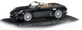 herpa 071062 Porsche 911 Carrera 4S Cabriolet schwarz Automodell 1:43 online kaufen