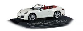 herpa 071116 Porsche 911 Carrera 4 Cabrio carraraweissmetallic Automodell 1:43 online kaufen