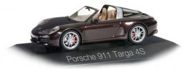 herpa 071130 Porsche 911 Targa 4S mahagonimetallic Automodell 1:43 online kaufen
