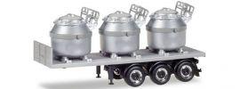 herpa 076838 Auflieger mit 3 Aluminiumtiegeln | Anhänger-Modell 1:87 online kaufen