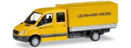 herpa 092326 Mercedes-Benz Sprinter 2013 DoKa Pritsche Leonhard Weiss Baufahrzeug 1:87 online kaufen