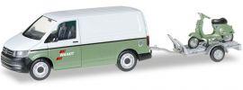 herpa 092760 VW T6 Kasten mit Anhänger und Vespa Wandt | Automodell 1:87 online kaufen
