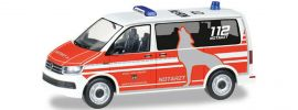 herpa 092876 VW T6 Bus Notarzt Feuerwehr Wolfsburg   Blaulichtmodell 1:87 online kaufen