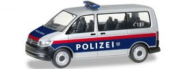 ausverkauft | herpa 092883 VW T6 Bus Polizei Österreich | Blaulichtmodell 1:87 online kaufen