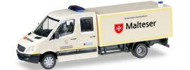 herpa 092951 MB Sprinter Koffer GWS Malteser | Blaulichtmodell 1:87 online kaufen