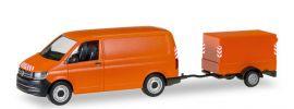 herpa 093071 VW T6 Transporter mit Planenanhänger kommunalorange Automomdell 1:87 online kaufen