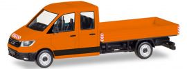 herpa 093453 MAN TGE DoKa Pritsche orange | Automodell 1:87 online kaufen