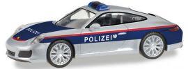 herpa 093507 Porsche 911 Carrera Polizei Österreich | Blaulichtmodell 1:87 online kaufen